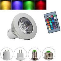 Memory Function GU10 MR16 E14 E27 3W LED RGB Glühbirne Fernbedienung Farbwechsel