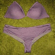Importazione italiana fatta Elegante Set Bikini imbottito Reggiseno e inferiore-Grande RRP £ 50.00