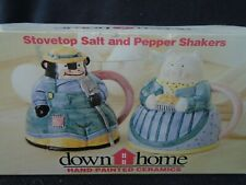 Hand Painted Ceramic Stovetop Salt & Pepper Shakers-Cow & Pig