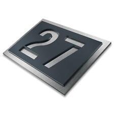 Metzler Hausnummer Anthrazit V2A Edelstahl Hausnummernschild 3D-Design Modern