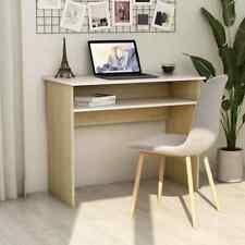 """Desk White and Sonoma Oak 35.4""""x19.6""""x29. 1""""Chipboard"""