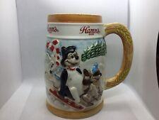 Hamms Beer Mug Limited Edition 1987 Christmas Bear In Sled