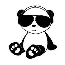 Vinyl Decal Panda Baby Headphones Sunglasses Island Colors & Sizes Car Truck 499