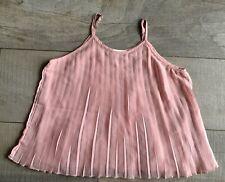 Abercrombie Kids Girls Size S 10 Top Shirt Pleated Dusty Rose Sleeveless