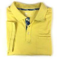 Timberland Men's Short Sleeve Solid Yellow Polo Shirt 7039J Size Large