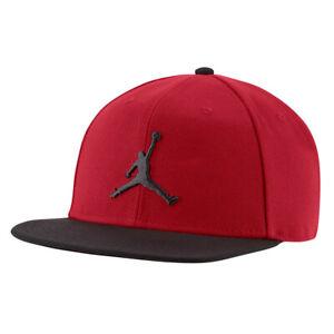 NIKE Cap Jordan Pro Jumpman rot/schwarz Snapback Baseball Capi Schirmmütze Kappe