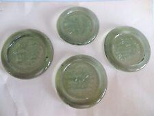 (4) GLASSHOUSE of 1608 JAMESTOWN VA 17th CENTURY GLASS WINE BOTTLE SEALS GREEN