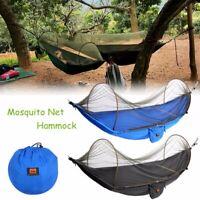 Double Travel Camping Outdoor Hammock Hanging Nylon Fabric Parachute Hang Bed