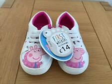 Peppa Pig Girls First Walkers Trainers Size 7 euro 24