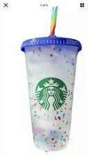 STARBUCKS COLOR CONFETTI SUMMER PRIDE 2020 CUP WITH STRAW  🌈Rainbow🔥FREE SHIP