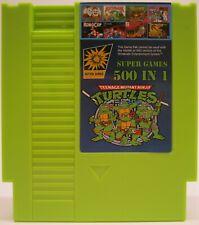 Super Games 500 in 1 Nintendo NES Cartridge Multicart - TMNT MUTAGEN GREEN!