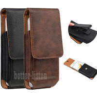 Vertical Leather Case Cover Pouch Holster With Belt Clip For iPhone 11 Samsung