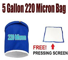 Essense Extractor Kit Herbal Ice Bubble Hash Bag, 5-Gallon (220 Micron) + Screen