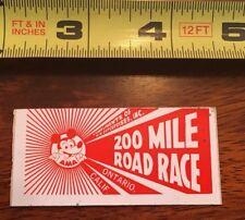 VINTAGE AMA 200 Mile Road Racing Decal, Ontario, CA