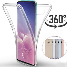 For Samsung Galaxy Phones Clear Soft TPU Silicone 360 Full Protective Case Cover