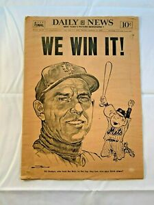 """1969 DAILY NEWS """"FINAL""""1969 MIRACLE METS"""" THE DAILY NEWSPAPER FINAL COMPLETE"""