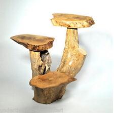 Café racine en bois 3 feuilles Stand side table naturel commerce équitable intérieur/extérieur 30