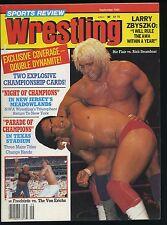 Sports Review Wrestling Magazine - Sept 1984 - Ric Flair v Rick Steamboat
