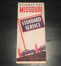 BB009 Standard Oil Company Service Highway Map Missouri MO
