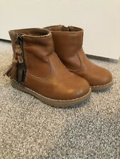 Brown Tan Girls Next Leather Boots Infant Size 6