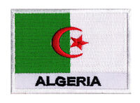 Patch écusson Algérie badge patche ALGERIE 70x45mm brodé à coudre