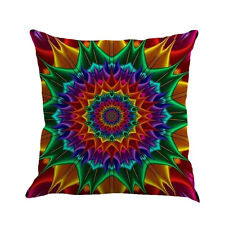 Geometry Colorful Boho Cushion Cover Throw Vintage Pillow Case Sofa Home Decor Multicolor - C