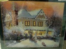 """Victorian Christmas II"" Thomas Kinkade Embellished Cross Stitch Kit"