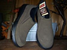 WRANGLER MENS CASUAL DRESS SHOES SLIPPERS SIZE 8 GENUINE LEATHER COLOR BROWN NEW