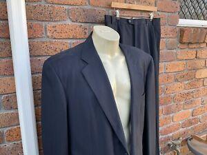 Ermenegildo Zegna Mens Vintage Fine Wool Navy Blue Suit Made In Italy 44 Aus
