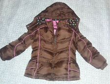 Weather Tamer (Wt Xtreme) puffer jacket with hood, for girls, brown, size 5~6