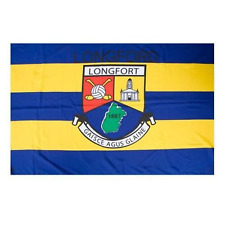 Longford Official GAA Crest County Flag 152cm x 91cm (5foot x3 foot)