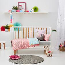 ADAIRS KIDS Boho bright fluro pink COT/JUNIOR BED QUILT COVER SET BNIP
