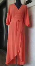 & Other Stories Coral Wrap Maxi Dress Size US 6 (S) (Zimmermann style)
