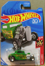 HOT WHEELS 50T HW FLAMES SERIES '32 FORD IN GREEN  #10/10 OR #246/365
