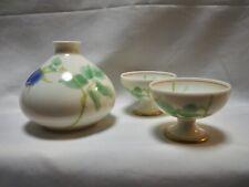 Koransha Aritayaki porcelain Sake Bottle Tokkuri + 2 Sakaduki Cups Pair sake set