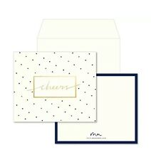 "MARIE MAE Thank You Card Set of 10 w/ Envelopes FabFitFun Exclusive ""Cheers"""