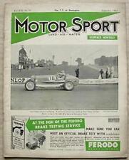 MOTOR SPORT Magazine Sept 1937 DONINGTON TT Bentley TUNING Atalanta