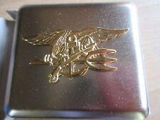 Navy SEALS BADGE SIGARETTE ASTUCCIO US Army WKII CIGARETTE CASE ww2 seals Nam USMC