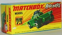 Matchbox Superfast  No 73 Weasel Repro G style Empty Box