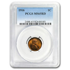 1916 Lincoln Cent MS-65 PCGS (Red)