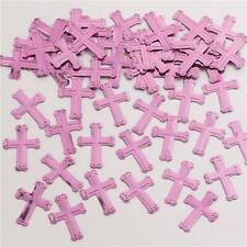 3 Rosa X Metallisch Konfetti Kreuz Tischkonfetti