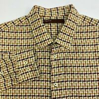 Perry Ellis Button Up Shirt Men's Size 2XL XXL Long Sleeve Multi Gingham Casual