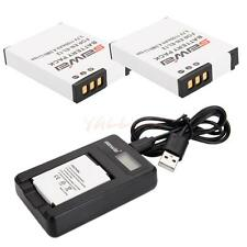 2x Li-ion EN-EL12 Battery + Charger for Nikon Coolpix AW130 AW120 AW110 AW100 CA