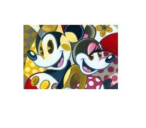 "DISNEY MICKEY & MINNIE ""CUBIST COUPLE"" TIM ROGERSON PUZZLE 300 PCS 16.25 x 11.5"