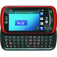LG Xpression C395 - Red Black (Unlocked) GSM 3G Qwerty Keyboard Touch Cell Phone