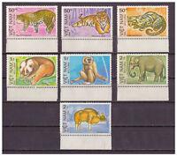 Vietnam, Geschützte Tiere| Animals MiNr. 1410 - 1416, 1984** Unterrand