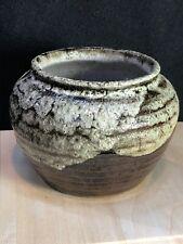 Lovely Vintage SHINDO 79-5 Art Pottery  Lava Glaze Vase/Pot/Planter