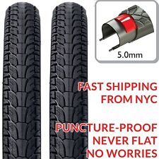 "2x DSI High Quality Puncture Proof NEVER FLAT 28"" Bike Tires 700x48c 50-622 5mm"