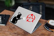 Banksy anarquía Rata Calcomanía Para Macbook Pro Pegatina de vinilo Laptop Mac Notebook piel