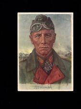 Germany ROMMEL Portrait Wolf Willrich VDA Schwabmuenchen 1940 USED Postcard 1m